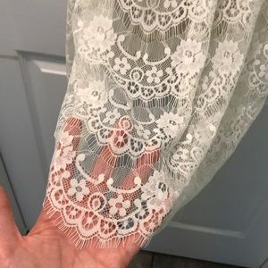 NWOT Abercrombie & Fitch cream lace dress